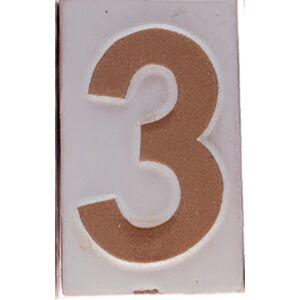 """Házszám """"3"""" 9cm"""