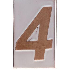 """Házszám """"4"""" 9cm"""