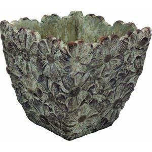 Virágláda kocka Fiore 14cm