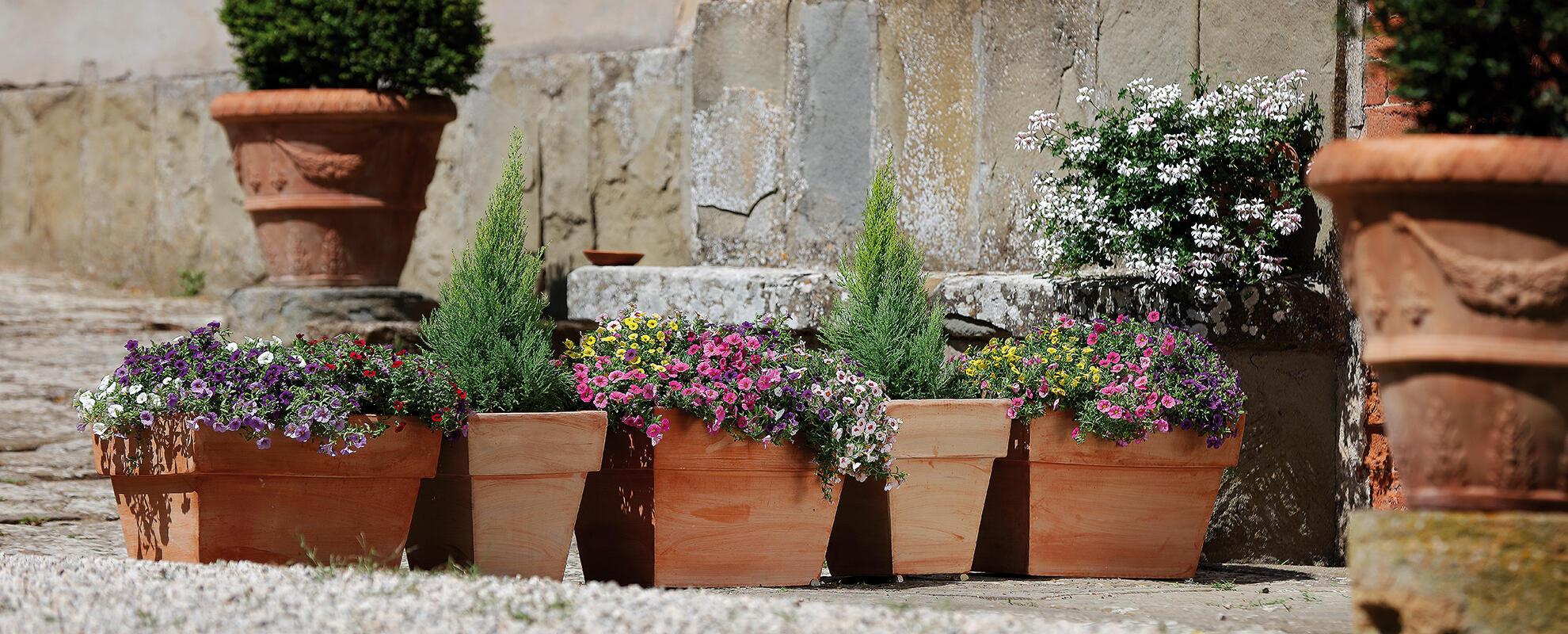 Virágcserepeink olyan természetesek, mint bennük a növények.